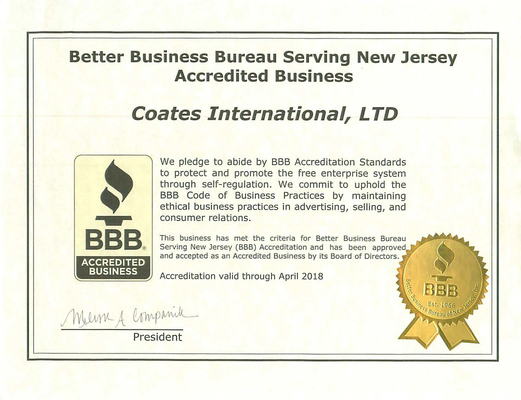 About coates international member in good standing of both the better business bureau of new jersey and the electrical generating systems association click on either certificate 1betcityfo Choice Image
